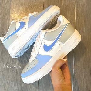 NWT Nike Blue Air Force 1 Custom